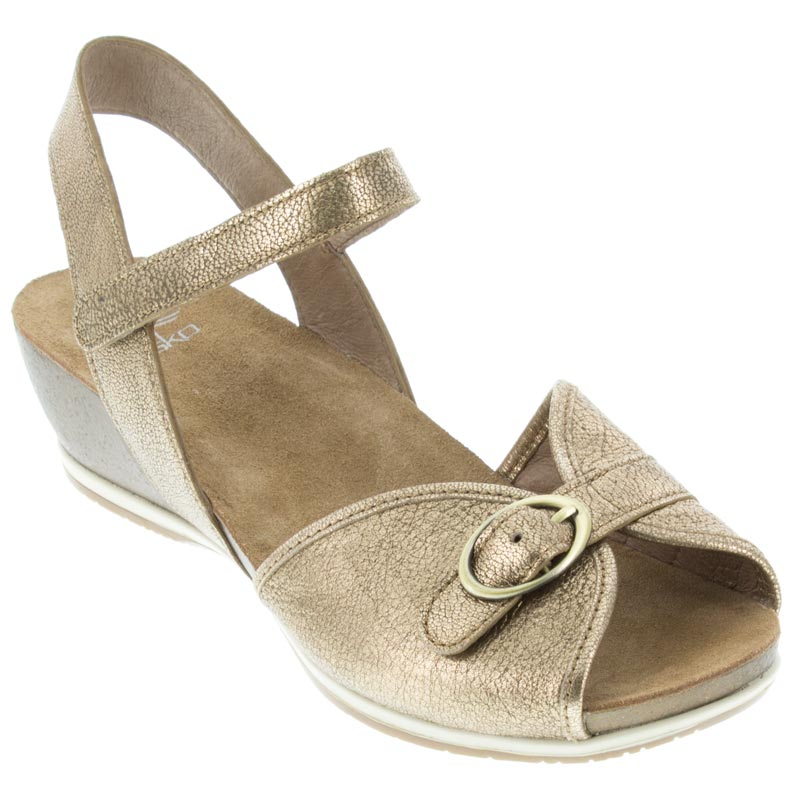 Dansko Vanna Gold Sandals