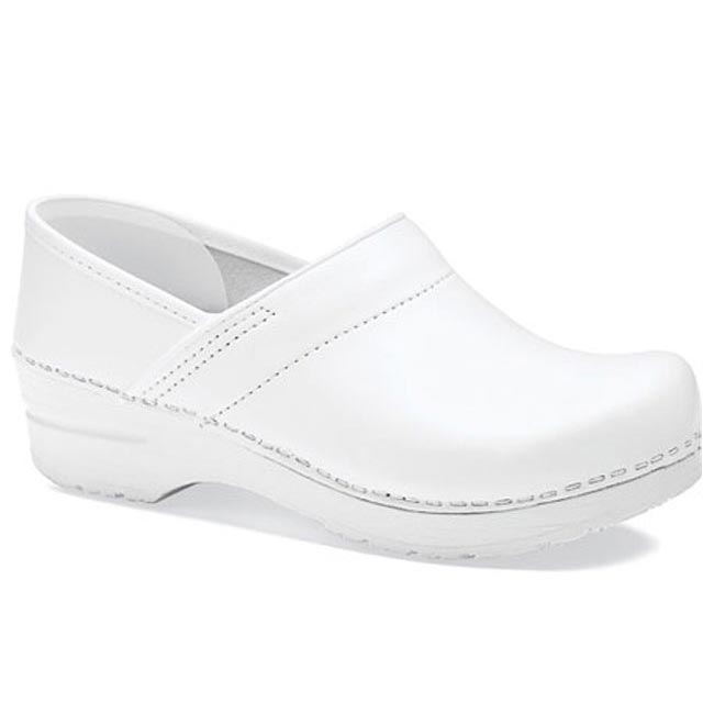 Dansko Wide Pro Box Leather White