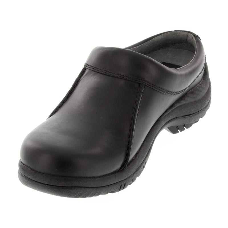 Dansko Wil Black Leather Slip-Resistant