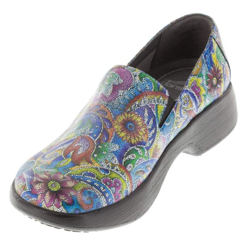 Dansko Winona Mosaic Leather Slip-Resistant right side front right shoe