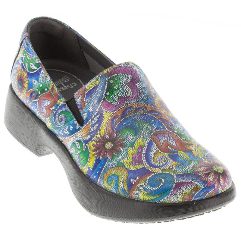 a8fddff20e848b Womens Dansko Winona Mosaic Leather Slip-Resistant - Happyfeet.Com
