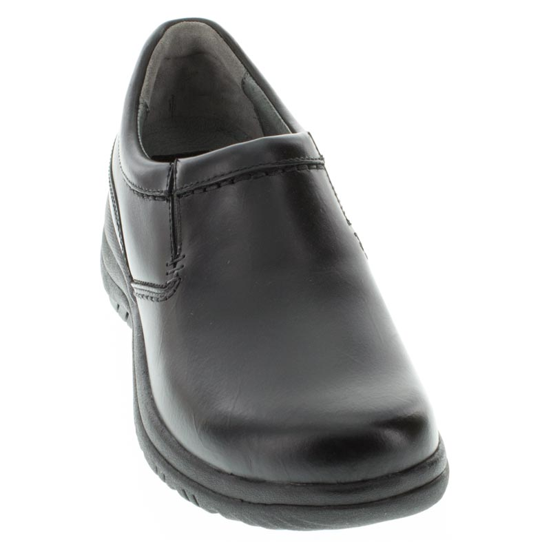 Dansko Wynn Black Leather Slip-Resistant front right shoe