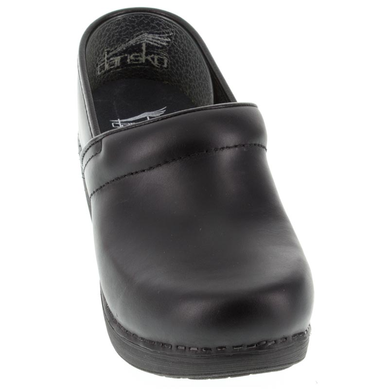 Dansko Pro Xp 2.0 Black Leather Slip-Resistant front view