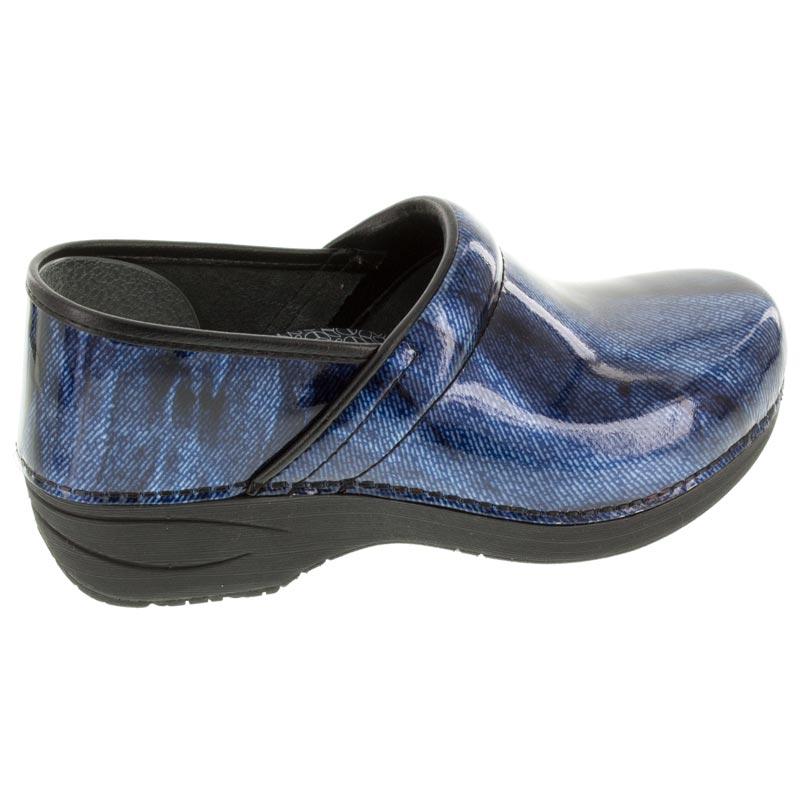 Womens Dansko Pro Xp 20 Denim Patent Leather Slip Resistant