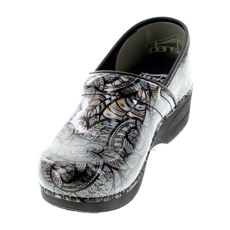 Dansko Pro Xp 2.0 Fossilized Patent Leather Slip-Resistant Clogs left front view