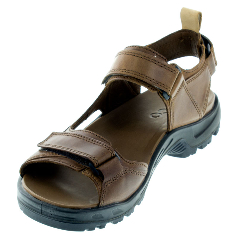 Ecco Premium Offroad Cocoa Leather Sandals left front view