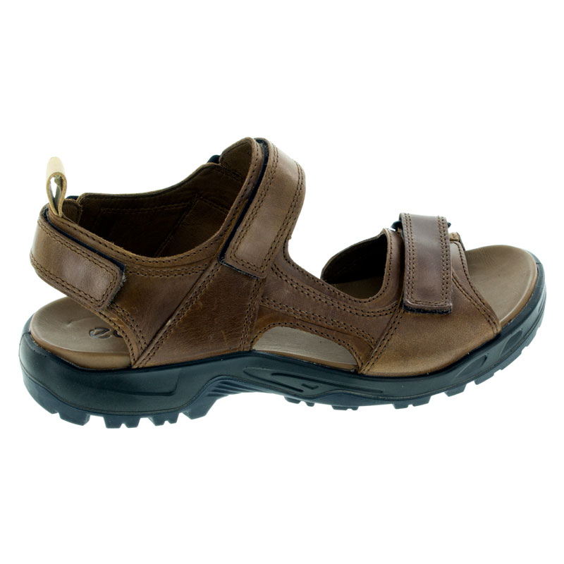 Ecco Premium Offroad Cocoa Leather Sandals right side view