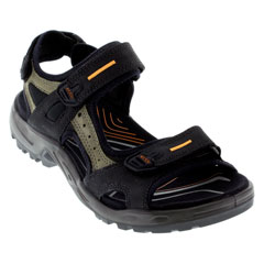Ecco Yucatan Black Sandals
