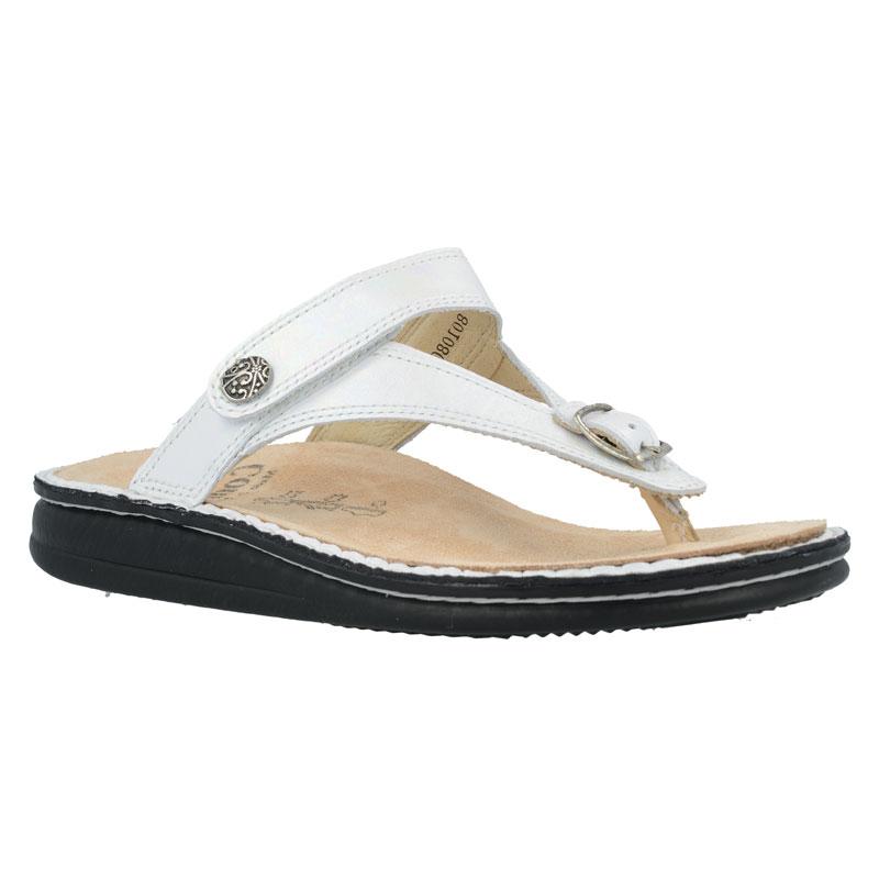 Finn Comfort Alexandria Perla White Leather Soft Footbed 37