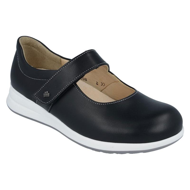 Finn Comfort Beja Black Leather Soft Footbed 6 Uk