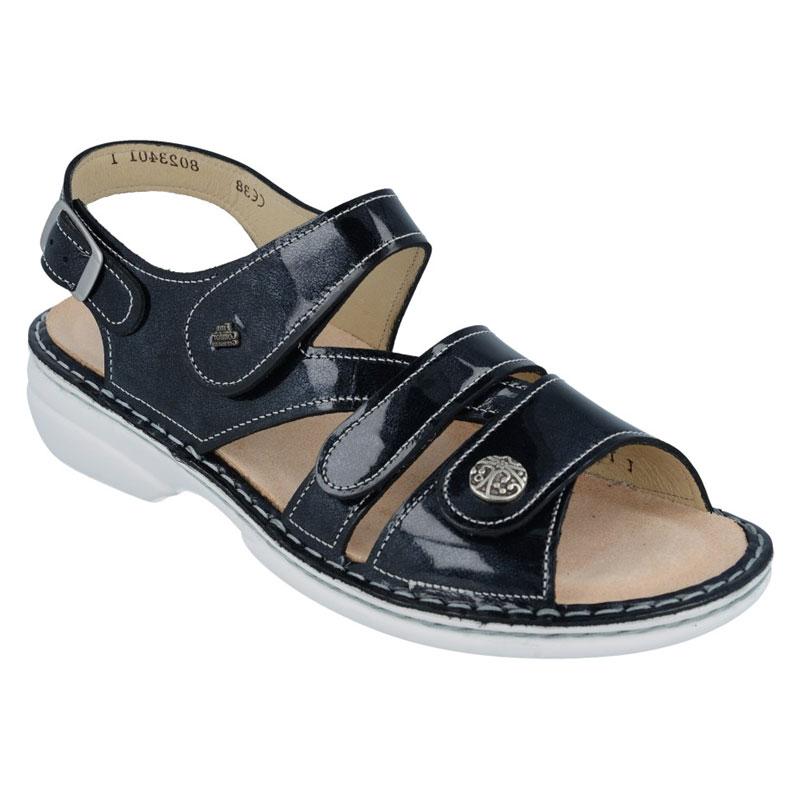 Finn Comfort Gomera Atlantic Patent Leather Soft Footbed 39