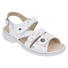 Finn Comfort Gomera White Vangogh Sandals