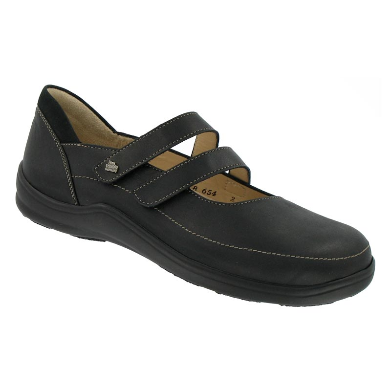 Finn Comfort Black Shoes