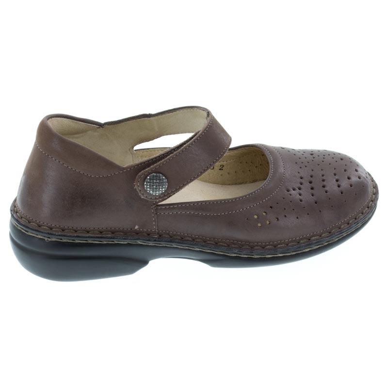 Finn Comfort Bellevue Kaffee Leather Soft Footbed