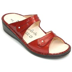 Finn Comfort Catalina Leather Soft Footbed Flame