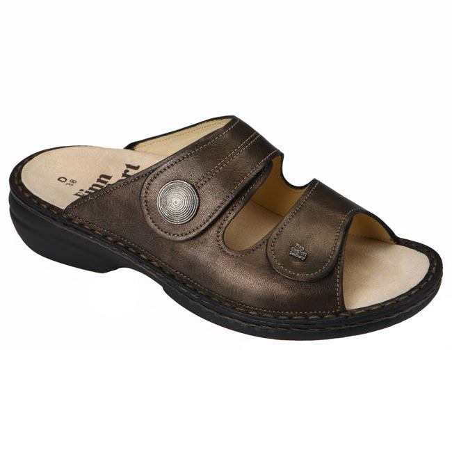 Finn Comfort Sansibar Leather Soft Footbed Cigar