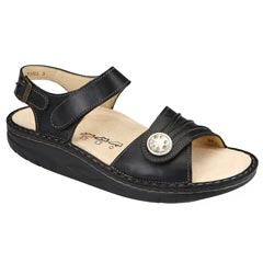 Finn Comfort Sausalito Leather Soft Footbed Black