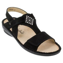 Finn Comfort Calvia Black Sandals
