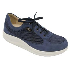 Finn Comfort Columbia Leather Soft Footbed Denim Shoes