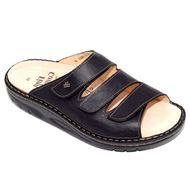 Finn Comfort Andros Leather Soft Footbed Black