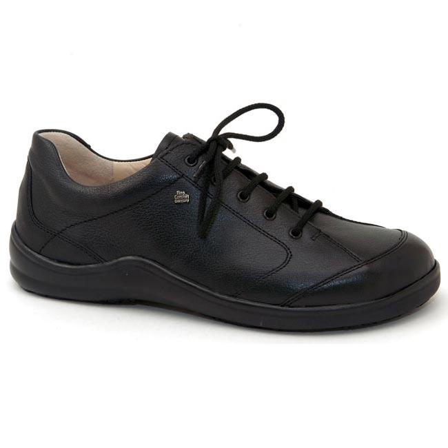 Finn Comfort Cusco Leather Soft Footbed Black Happyfeet Com