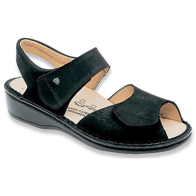 Finn Comfort Faro Leather Soft Footbed Black