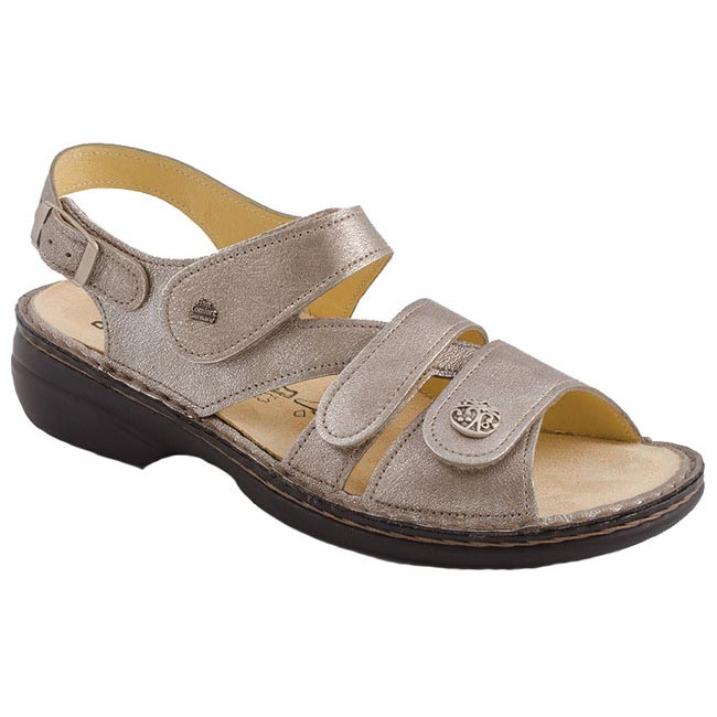 Finn Comfort Gomera Leather Soft Footbed Smog Sandals