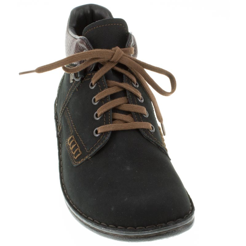 Finn Comfort Linz Black Nubuck front left side right shoe
