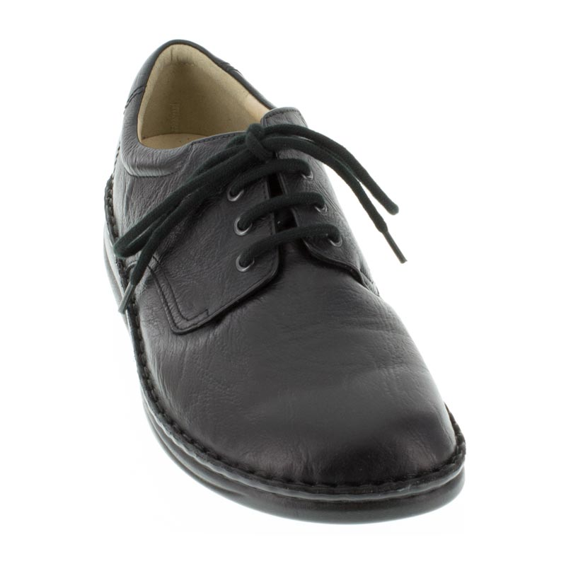 Finn Comfort Metz Black Leather front left side right shoe