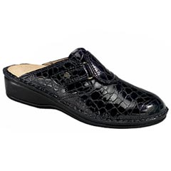 Finn Comfort Orb Leather Black Croc