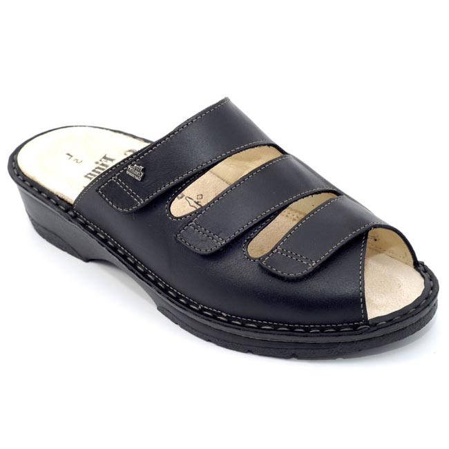 f6a5c1e291f3 Finn Comfort Tilburg Leather Soft Footbed Black - HappyFeet.com