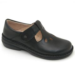 Finn Comfort Tofino Leather Soft Footbed Black