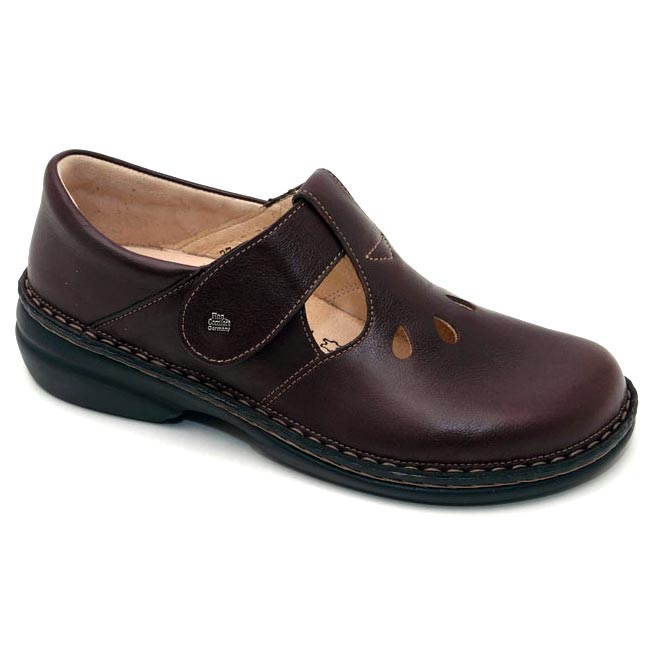 Finn Comfort Tofino Leather Soft Footbed Cigar