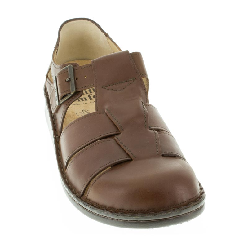 Finn Comfort Tropez Chestnut Leather front left side right shoe