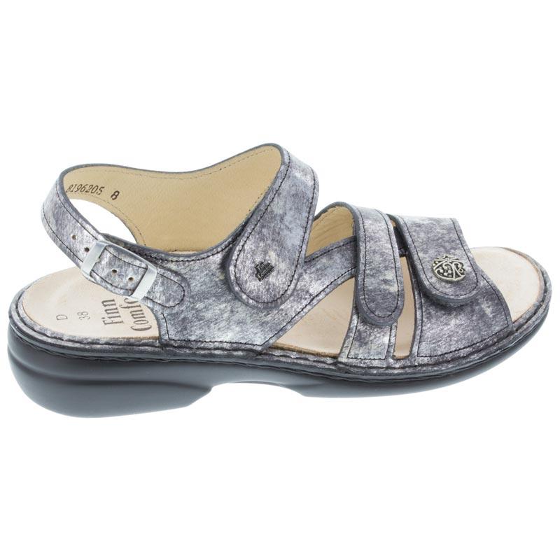 ba1ea4f35b3309 Finn Comfort Gomera Dark Grey Leather Soft Footbed right side view