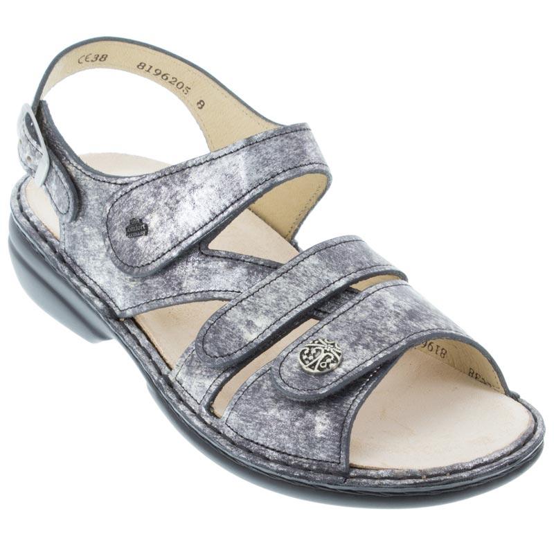 976a145ef43fd3 Womens Finn Comfort Gomera Dark Grey Leather Soft Footbed ...
