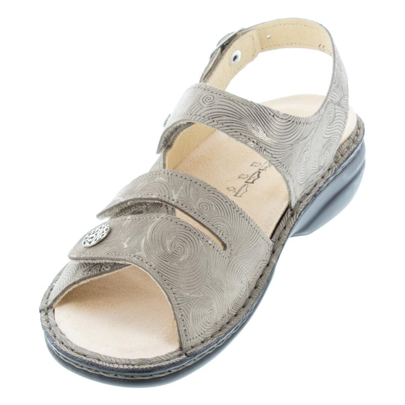 Finn Comfort Gomera Grain Hair Leather Soft Footbed left front view