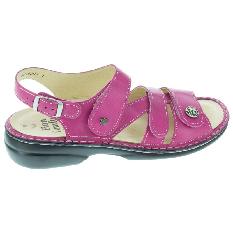 Finn Comfort Gomera Magenta Leather Soft Footbed right side view