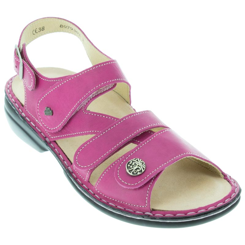 b23284bde98e10 Womens Finn Comfort Gomera Magenta Leather Soft Footbed - Happyfeet.Com