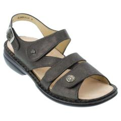 Finn Comfort Gomera Leather Soft Footbed Anthracite Sandals