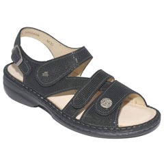 Finn Comfort Gomera Points Lth Soft Ftbed Black
