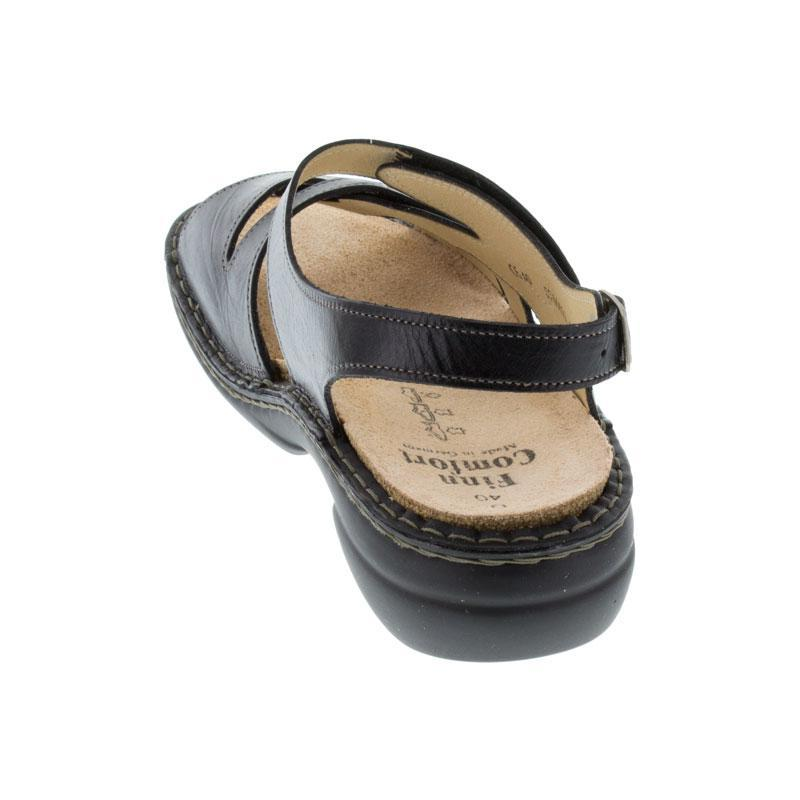 Finn Comfort Gomera Black Leather Soft Footbed