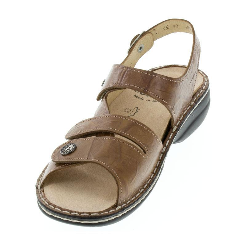 Finn Comfort Gomera Cognac Leather Soft Footbed