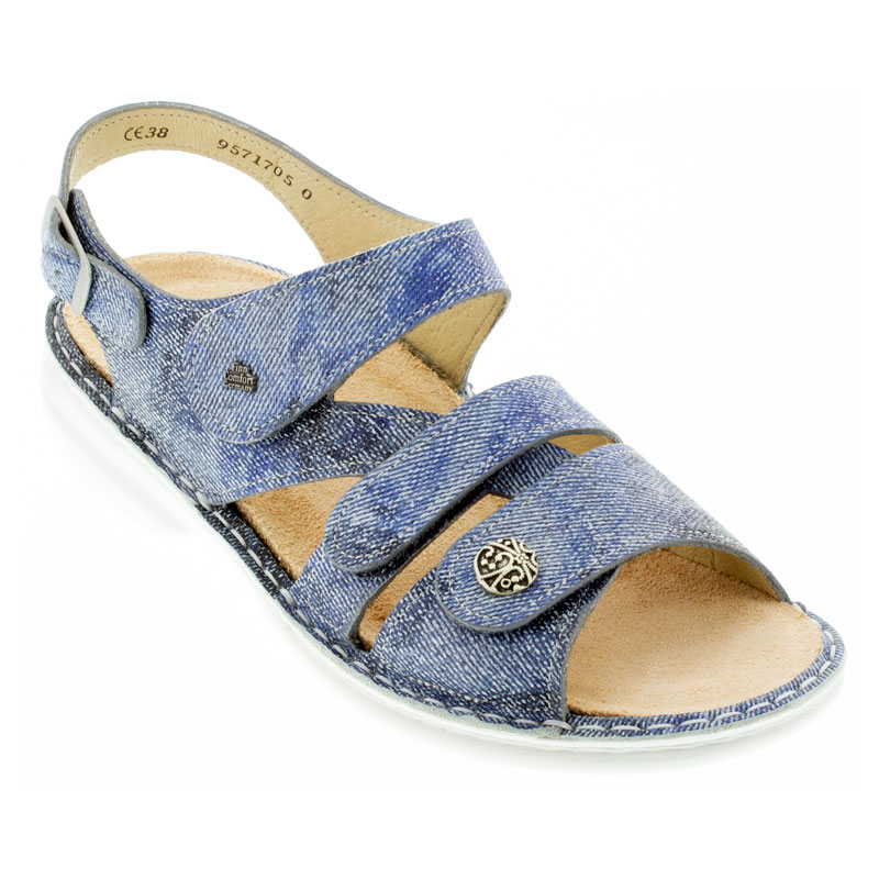 Finn Comfort Gomera Hippie Jeans Leather Soft Footbed 37
