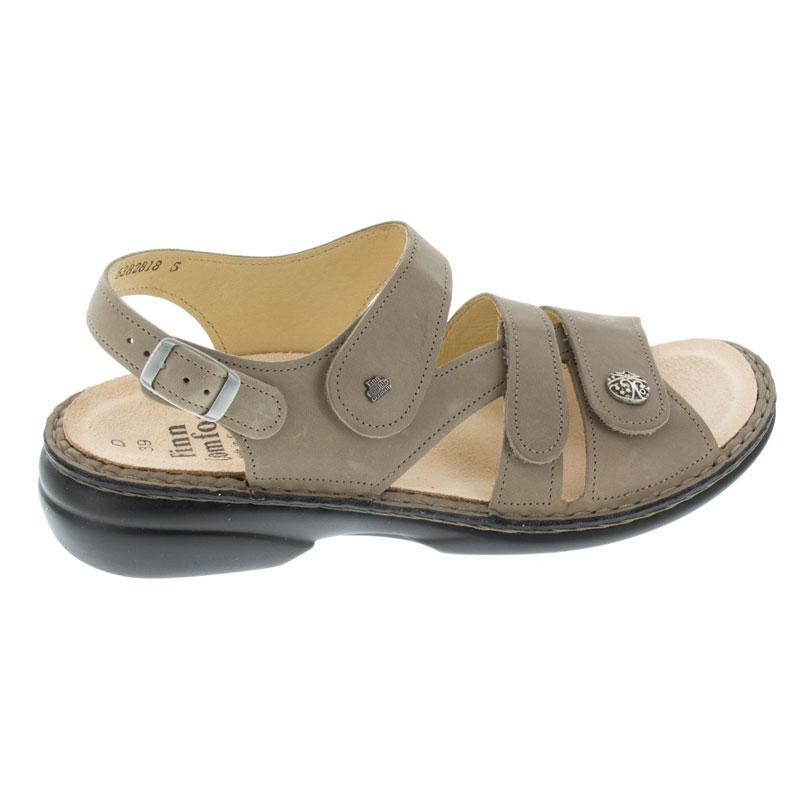 Finn Comfort Gomera Taupe Leather Soft Footbed