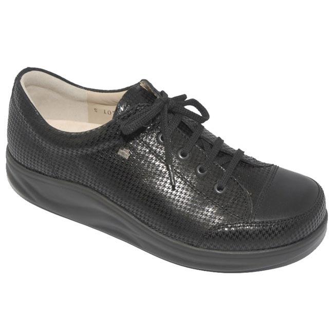 Finn Comfort Ikebukuro Black Points Leather Soft Footbed 55 Uk