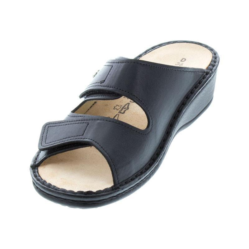 Finn Comfort Jamaica Black Leather Soft Footbed