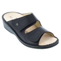 8abc33cbff81 Finn Comfort Andros Leather Soft Footbed Black - HappyFeet.com
