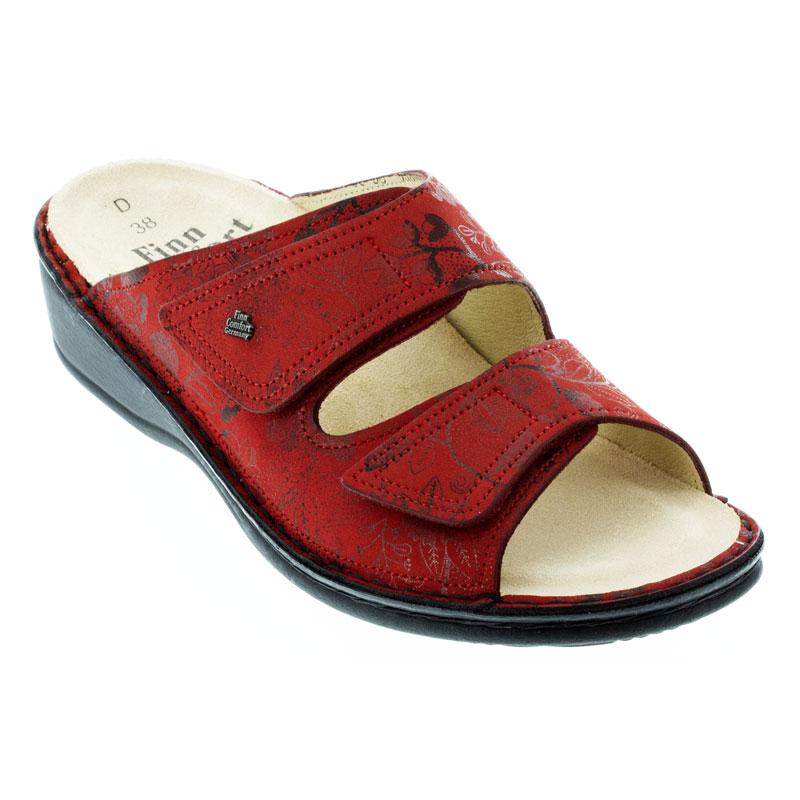Finn Comfort Jamaica Red Jardin Leather Soft Footbed 37