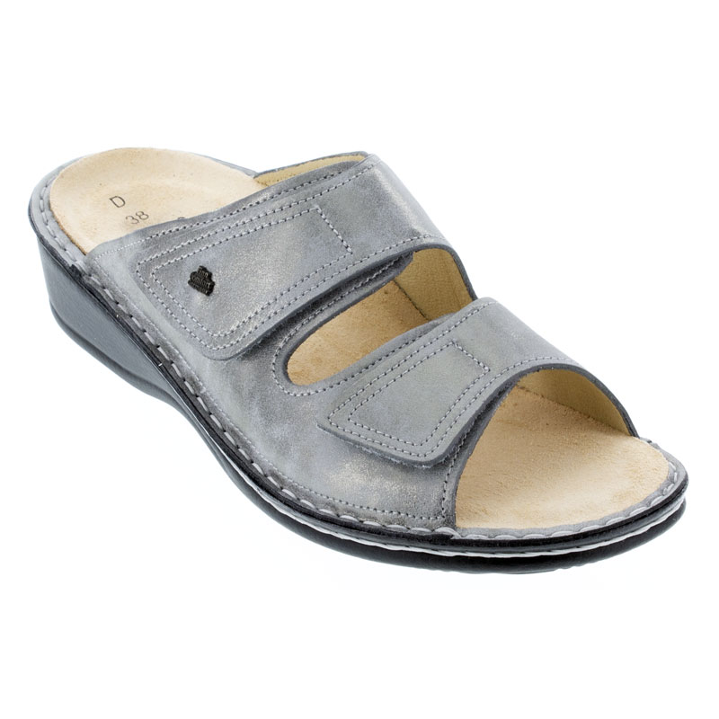 Finn Comfort Jamaica Marley Silver Leather Soft Footbed 39